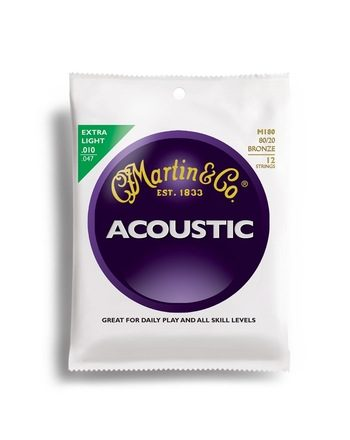 martin 12 cordes m180 extra light 10-47