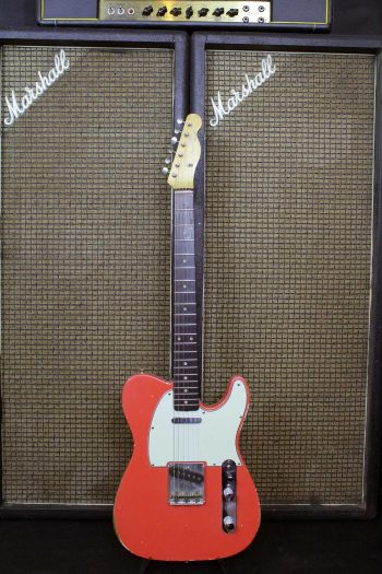 fender telecaster 1962 fiesta red slab board